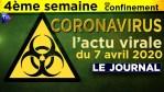 JT du mardi 7 avril 2020 – Coronavirus : l'actualité quotidienne