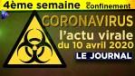 JT du vendredi 10 avril 2020 – Coronavirus : l'actualité quotidienne
