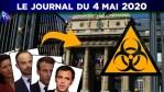 JT – Coronavirus : le point d'actualité – Journal du lundi 4 mai 2020 avec itw de R. de Castelnau