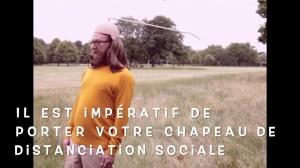 Couvre-chef révolutionnaire de distanciation sociale.