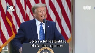 Discours de Donald Trump suite aux émeutes qui secouent les États-Unis