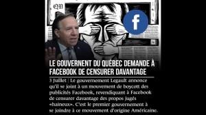 Haute trahison et satanisme. François Legault souhaite encore plus de censure.