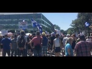 Blablatage sur la manifestation de Montréal du 15 août 2020