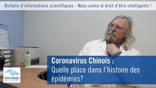 Coronavirus Chinois : Quelle place dans l'histoire des épidémies?