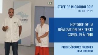Histoire de la réalisation des tests Covid-19 à l'IHU