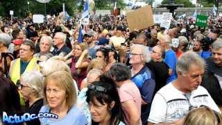 Intro avant les Discours, Marche pacifique contre le port du masque obligatoire aux enfants (Québec)
