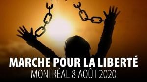 100 000 PERSONNES À MONTRÉAL – MARCHE POUR LA LIBERTÉ – 8 AOÛT 2020