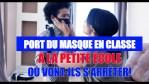 PORT DU MASQUE À LA PETITE ÉCOLE…EN CLASSE…OU VONT-ILS S'ARRÊTER!!!