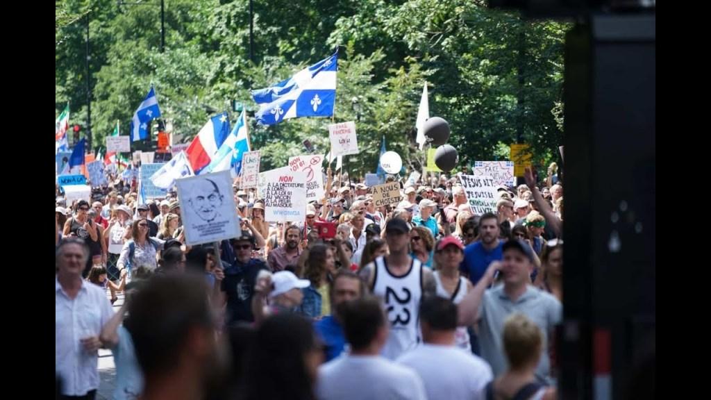 Quelque Centaines de manifestants à Montréal ?