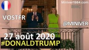 """[VOSTFR] Donald Trump """"J'accepte profondément cette nomination au poste de président des États-Unis"""""""