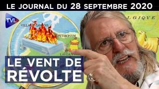 Covid-19 : bientôt la révolte ? – JT du lundi 28 septembre 2020