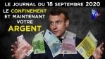 Covid-19 : Le confinement, et maintenant l'argent – JT du vendredi 18 septembre 2020