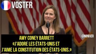 [VOSTFR] Trump nomme Amy Coney Barrett à la Cour suprême Discours Complet [CENSURÉ]