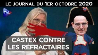 Castex contre les réfractaires – JT du jeudi 1er octobre 2020