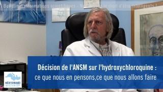 Décision de l'ANSM sur l'hydroxychloroquine : ce que nous en pensons, ce que nous allons faire