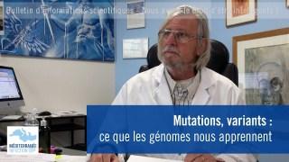 Mutations, variants : ce que les génomes nous apprennent