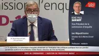 Audition de Didier Raoult au Sénat Le 16 septembre 2020