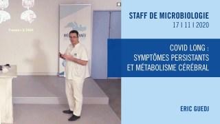 Covid long : symptômes persistants et métabolisme cérébral