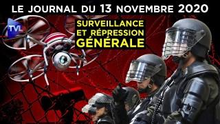 Loi sécurité globale : tous aux abris ! – JT du vendredi 13 novembre 2020