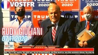[VOSTFR] Rudy Giuliani Conférence de presse à Philadelphie le 7 novembre