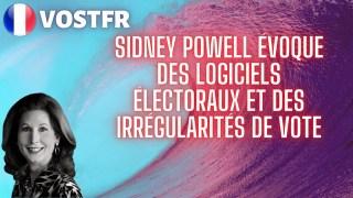 [VOSTFR] Sidney Powell évoque des logiciels électoraux et des irrégularités de vote