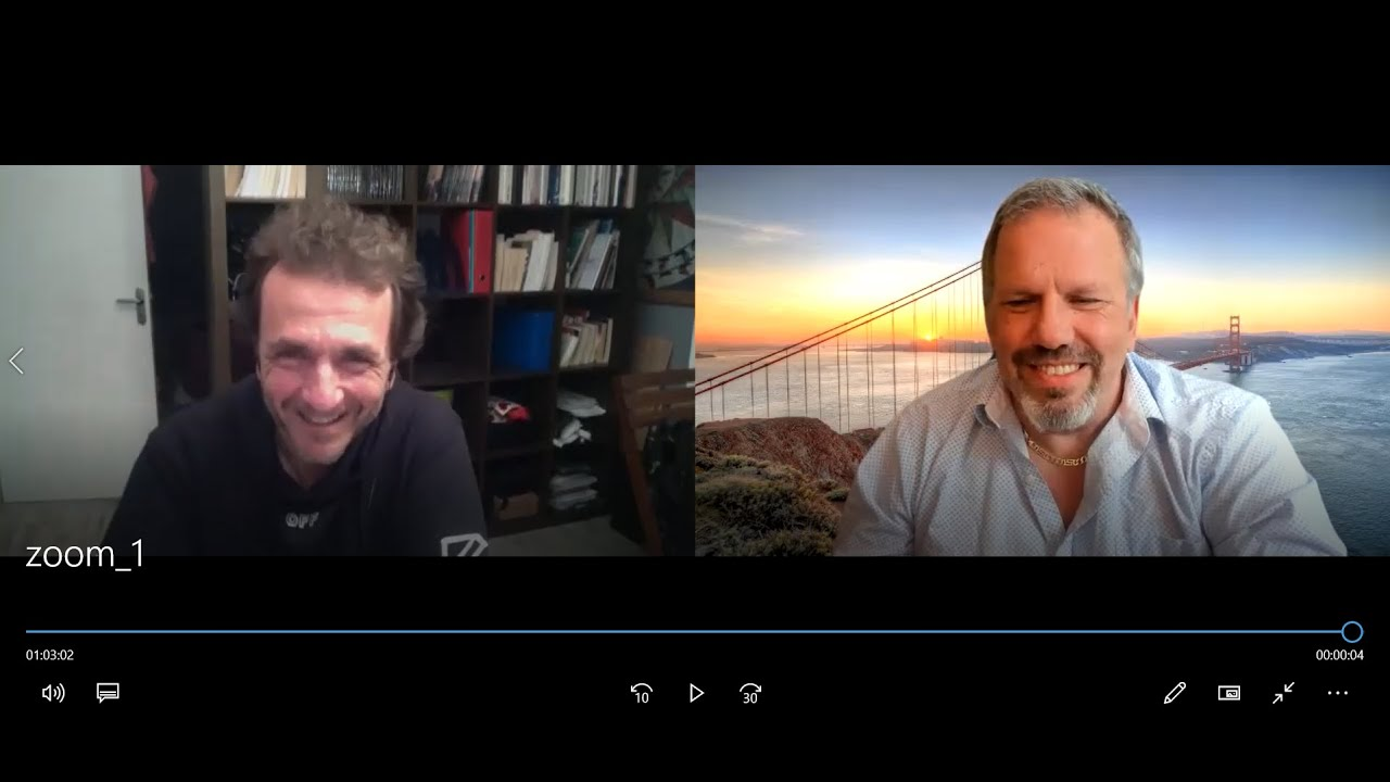 Pierre Barnerias (France) et Dan Pilon (Canada) discutent