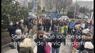 Soutien à Chloé lors de son entretien de service reporté – 4 février 2021