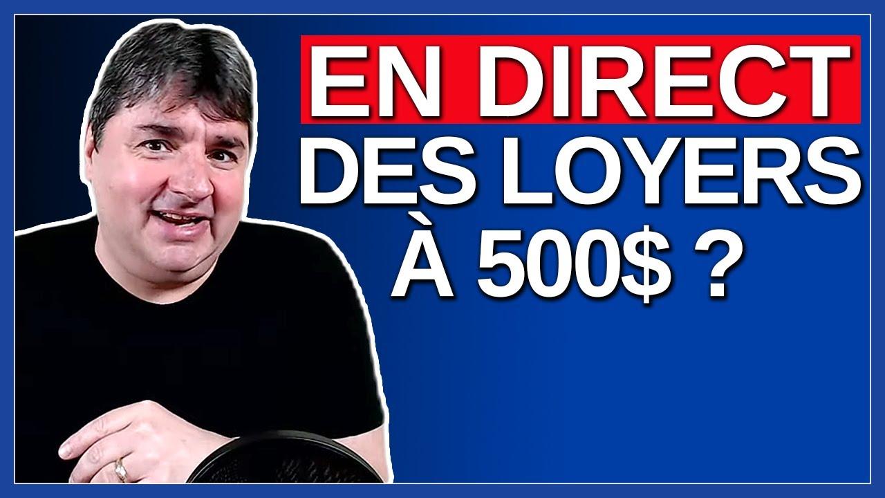 Des loyers à 500$ ? - Actualité Politique Du Québec en Direct