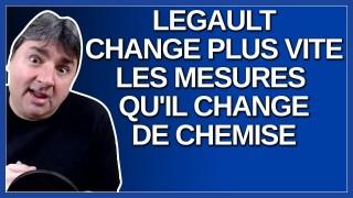 Pourquoi Legault change plus vite les mesures qu'il change de chemise.