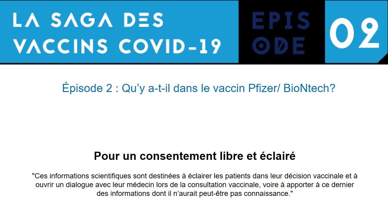 Saga Immunité artificielle-Episode 2 : Qu' y a-t-il dans le produit Pfizer ?