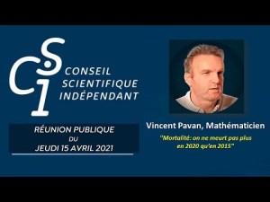Vincent PAVAN, mathématicien du CSI : Mortalité : on ne meurt pas plus en 2020 qu'en 2015