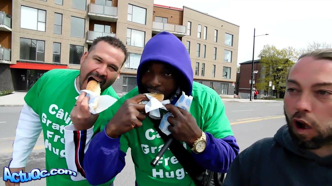 ActuQc : Hotdog Câlins - Petit moment de partage entre Patriotes! 👊😉
