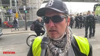 Manifestations interdites du 1er mai : interview d'Alain, gilet jaune