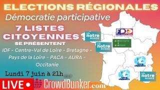 Elections Régionales et Démocratie Participative: 7 listes citoyennes se présentent