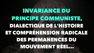 Francis Cousin : Invariance du principe communiste, dialectique de l'histoire…