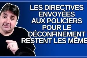 Les directives envoyées aux policiers pour le déconfinement restent les mêmes. Dit Legault.