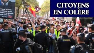 Gilets jaunes et citoyens en colère  |  Manifs anti pass à Paris, 28 août 2021