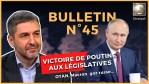 Bulletin N°45. Macron humilié, Sortir de l'OTAN, Zemmour vs Islam, Législatives russes. 25.09.2021.