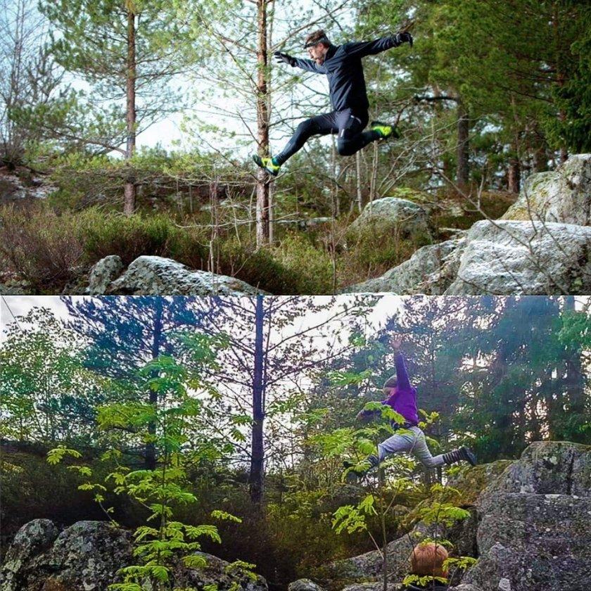 Linnéa hoppar fotspår inspiration