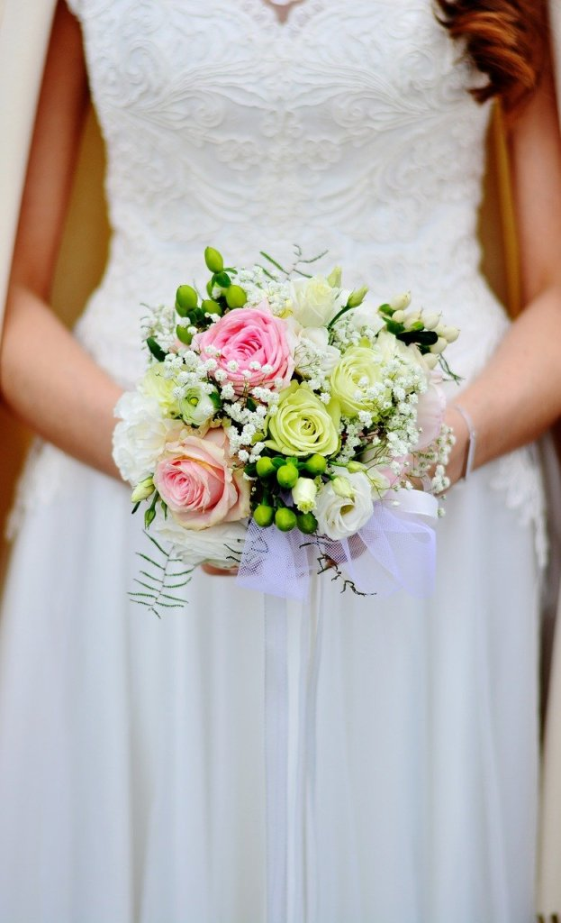 bridal bouquet, bouquet, wedding