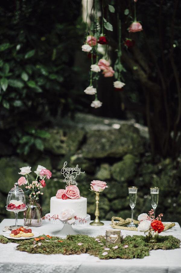 mesa dulce de cuento de hadas