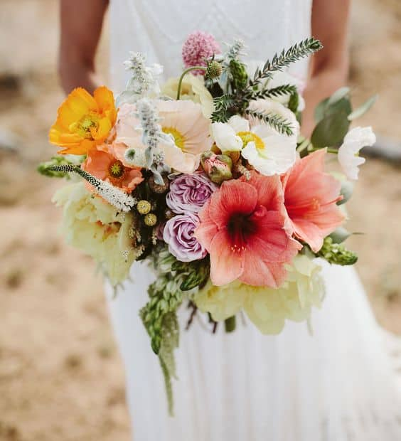 Boda hawaiana.Ramo de boda hawaiano