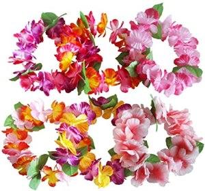 Corona de flores hawaianas