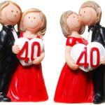 Las bodas de rubí. 40 años de casados