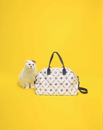 The Cat's ISSUE:ネコも入るボストンバッグ。
