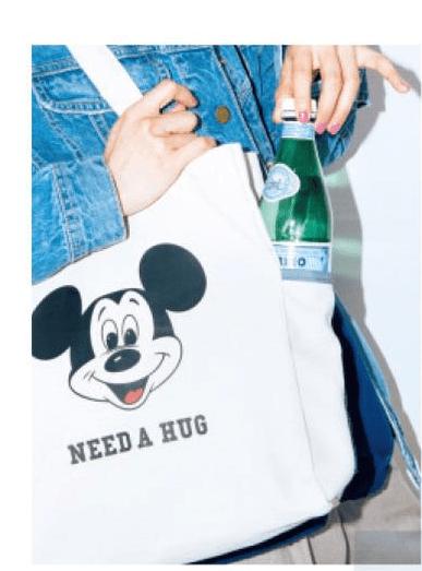 mini,ミニ, 2018年, 3月号,雑誌付録,Lee,特製,ミッキーマウス,3ポケットトートバッグ,バック,付録、雑誌