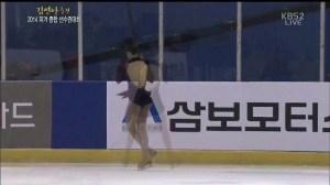 2014 KFSC YUNA FS 3Lz+3T(3Tトゥ着氷)