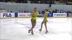 2014 KFSC YUNA SP 3Lz+3T(3Tトウ着氷)