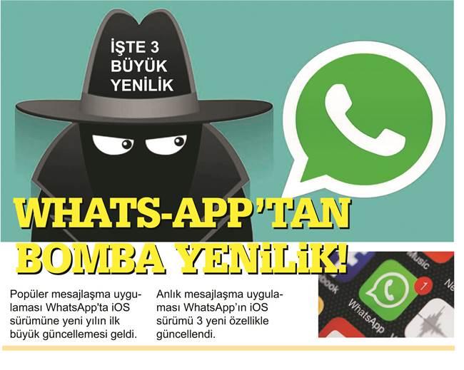 WhatsApp'tan bomba yenilik!
