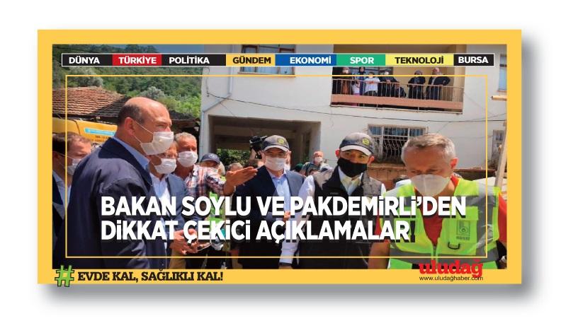 Bakanlardan Bursa'daki son durumla ilgili önemli açıklamalar
